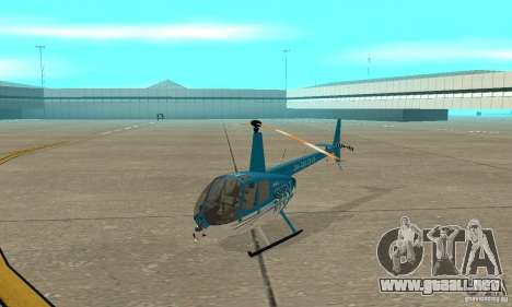 Robinson R44 Raven II NC 1.0 TV para GTA San Andreas left