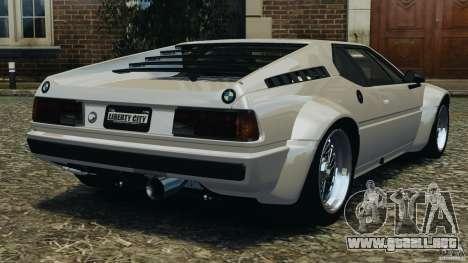 BMW M1 Procar para GTA 4 Vista posterior izquierda