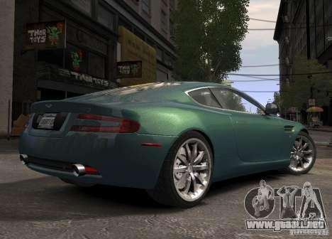 Aston Martin DB9 2008 v 1.0 para GTA 4 Vista posterior izquierda
