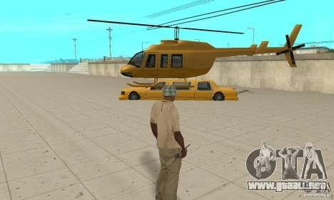 VIP TAXI para GTA San Andreas sucesivamente de pantalla