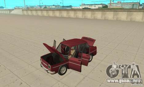 Dacia 1100 para GTA San Andreas vista hacia atrás