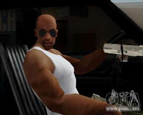 Azules gafas de aviador para GTA San Andreas quinta pantalla