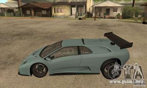 Lamborghini Diablo GT-R para GTA San Andreas left