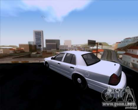 Ford Crown Victoria 2009 Detective para GTA San Andreas vista posterior izquierda