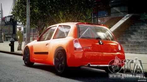 Renault Clio Sport para GTA 4 Vista posterior izquierda