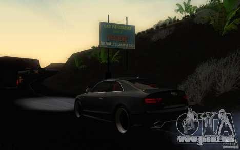 Audi S5 Black Edition para GTA San Andreas vista posterior izquierda