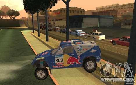 Volkswagen Race Touareg para GTA San Andreas left