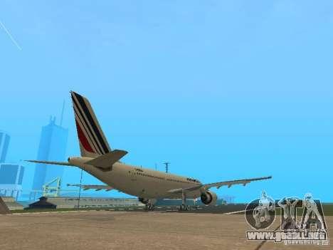 Airbus A300-600 Air France para GTA San Andreas vista hacia atrás