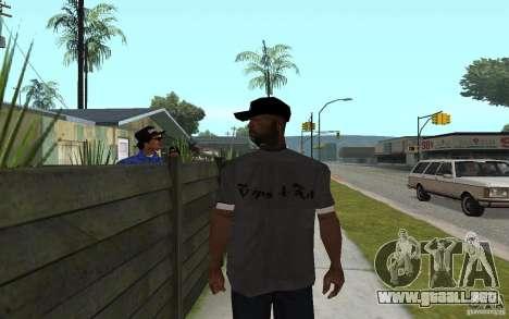 Crips 4 Life para GTA San Andreas sucesivamente de pantalla