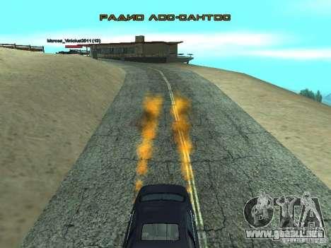 Car Effect para GTA San Andreas segunda pantalla