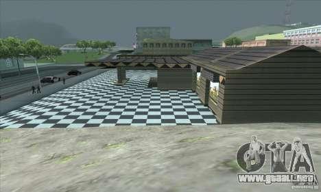 El garaje actualizado CJ en SF para GTA San Andreas sucesivamente de pantalla