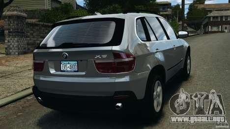 BMW X5 xDrive35d para GTA 4 Vista posterior izquierda