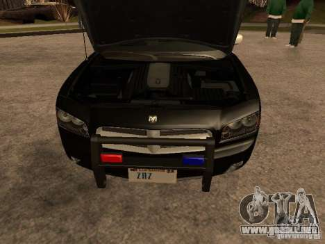 Dodge Charger RT Police para visión interna GTA San Andreas