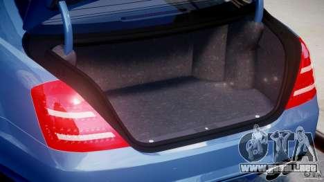 Mercedes-Benz S63 AMG [Final] para GTA 4 vista hacia atrás