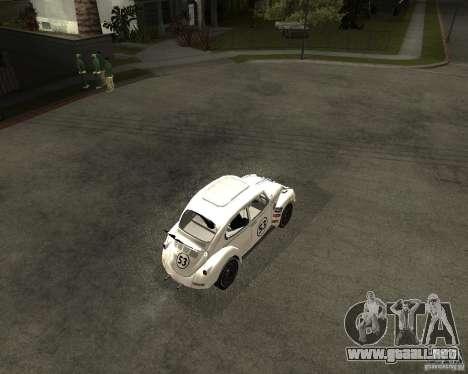 Volkswagen Beetle Herby para la visión correcta GTA San Andreas