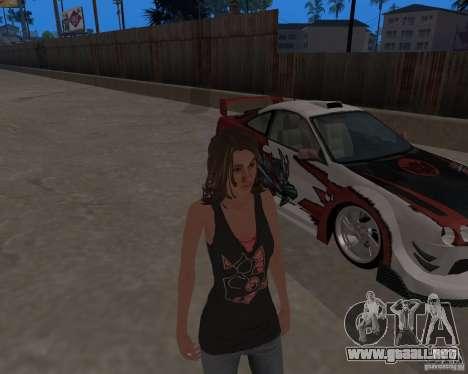 Tony Hawks Emily para GTA San Andreas sucesivamente de pantalla