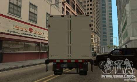 Camión con logotipo de YouTube para GTA San Andreas vista posterior izquierda