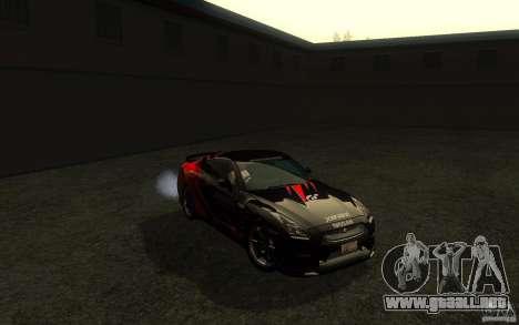 Nissan GTR R35 Spec-V 2010 para vista lateral GTA San Andreas