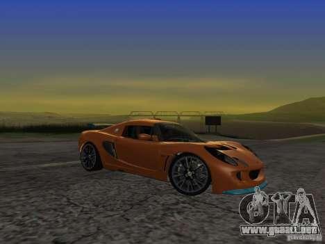 Lotus Exige para GTA San Andreas vista hacia atrás