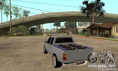 Toyota Hilux Surf v2.0 para GTA San Andreas vista posterior izquierda