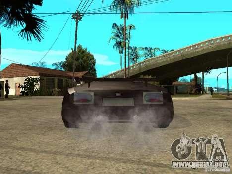 Buggati EB110 para GTA San Andreas vista posterior izquierda
