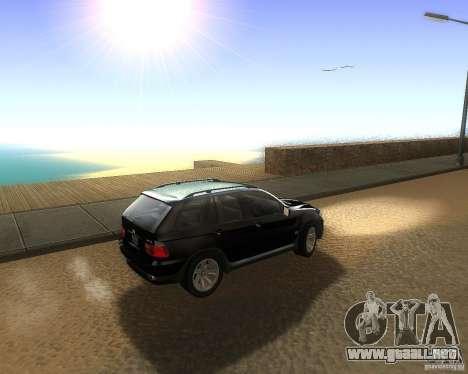 BMW X5 4.8 IS para GTA San Andreas left