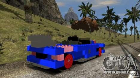 LEGOCAR para GTA 4 Vista posterior izquierda