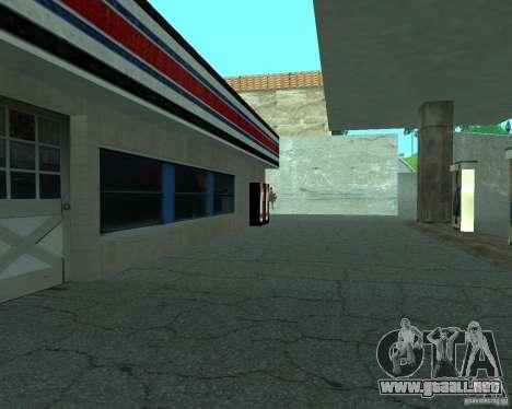 Nuevo letrero. nueva gasolinera. para GTA San Andreas quinta pantalla