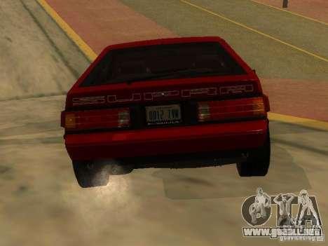 Toyota Celica Supra para GTA San Andreas vista posterior izquierda