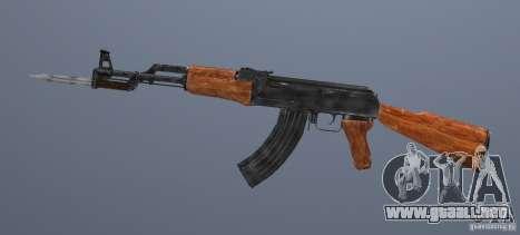 AK 47 con bayoneta para GTA San Andreas segunda pantalla