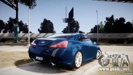 Infiniti G37 Coupe Sport para GTA 4 left