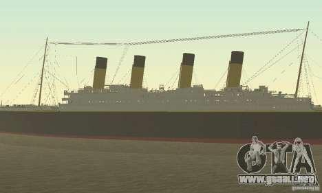 RMS Titanic para la visión correcta GTA San Andreas