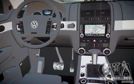 Volkswagen Touareg R50 para GTA 4 vista superior
