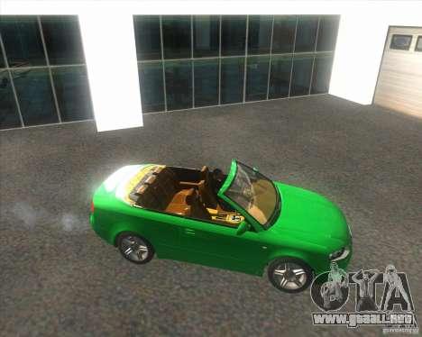 Audi A4 Convertible 2005 para la visión correcta GTA San Andreas