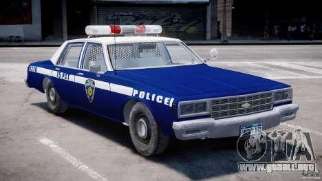 Chevrolet Impala Police 1983 [Final] para GTA 4 left