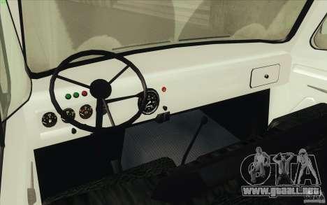 UAZ-3303 para GTA San Andreas vista hacia atrás