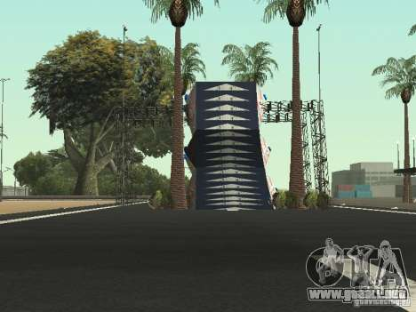 Drift track and stund map para GTA San Andreas sucesivamente de pantalla