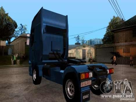 Renault Premium para GTA San Andreas vista posterior izquierda