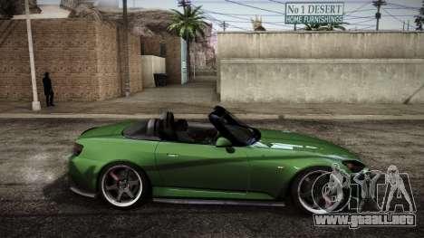 Honda S2000 HellaFlush para GTA San Andreas vista posterior izquierda