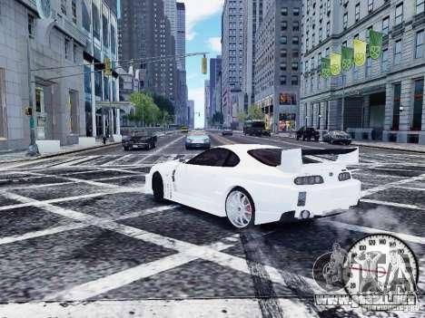 Toyota Supra Drift Setting para GTA 4 Vista posterior izquierda