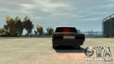 VAZ 2107 v3.0 para GTA 4 vista hacia atrás