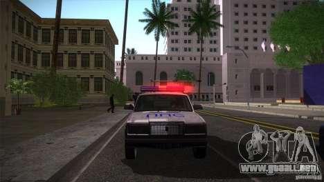 VAZ 2107 PPP Arzamas para GTA San Andreas vista hacia atrás