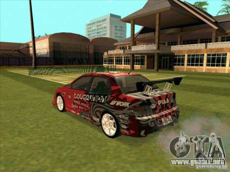 Mitsubishi Evo 9 Touge Union para GTA San Andreas left