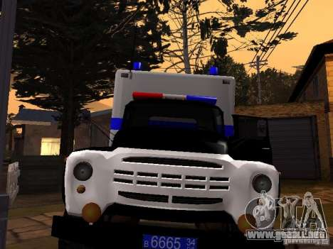 ZIL 130 policía para GTA San Andreas