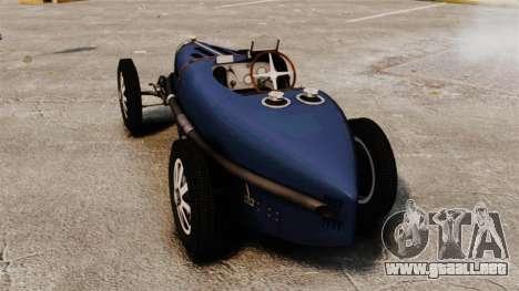 Bugatti Type 51 para GTA 4 Vista posterior izquierda