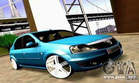 Dacia Logan 2008 para visión interna GTA San Andreas