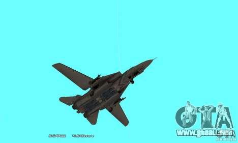 F14W Super Weirdest Tomcat Skin 1 para la vista superior GTA San Andreas