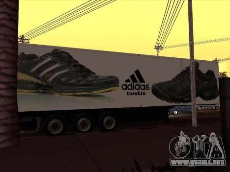 Remolque Adidas para GTA San Andreas vista posterior izquierda