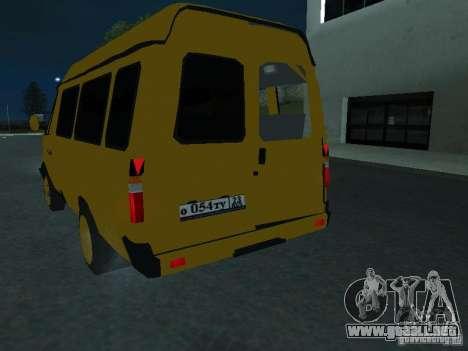 Taxi gacela para visión interna GTA San Andreas