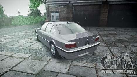 BMW 740i (E38) style 32 para GTA 4 vista superior